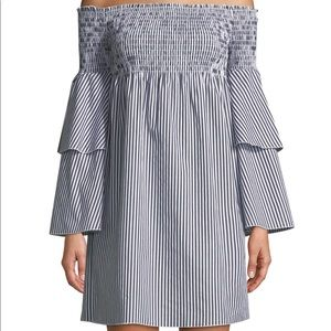 Romeo & Juliet Couture Striped Bell-sleeve dress